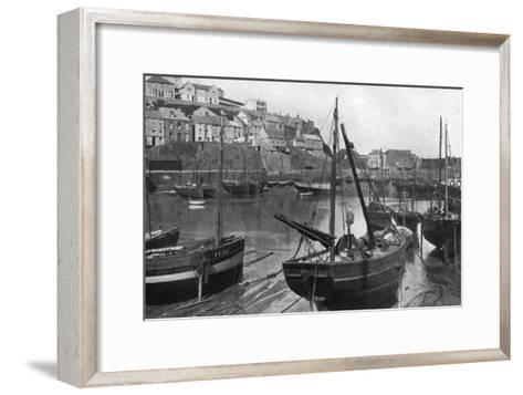 Mevagissey Harbour, Cornwall, 1924-1926-Underwood-Framed Art Print