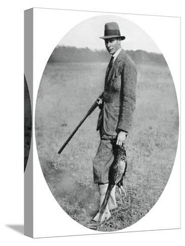 The Duke of York at a Shooting Party in 1922--Stretched Canvas Print