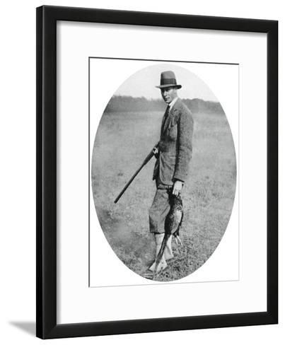 The Duke of York at a Shooting Party in 1922--Framed Art Print