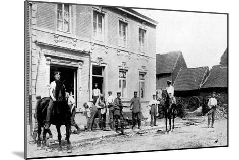 Café in Mouland, Destroyed by Germans, First World War, 1914--Mounted Giclee Print