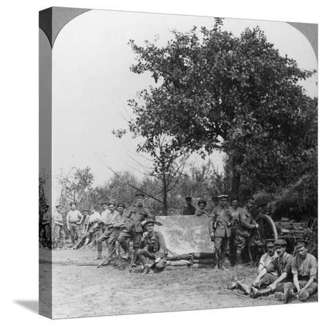 A Battery of Royal Field Artillery Enjoying a Few Hours Rest in a Wood, World War I, C1914-C1918--Stretched Canvas Print