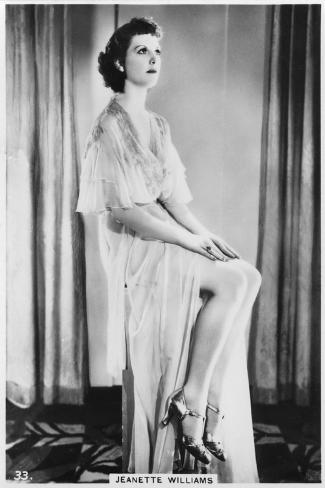 Jeanette Williams, C1938--Stretched Canvas Print