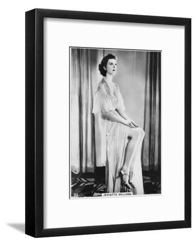 Jeanette Williams, C1938--Framed Art Print