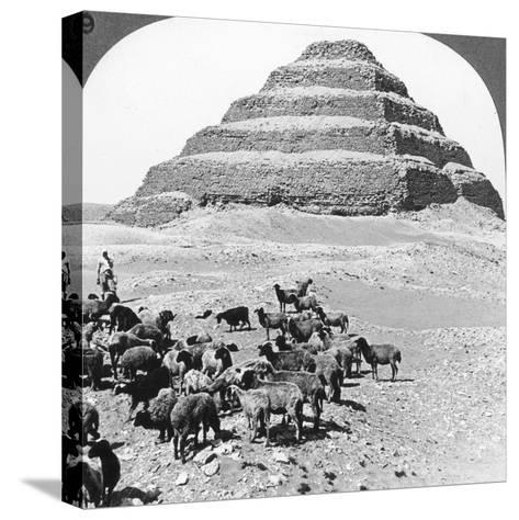 The Pyramid of Sakkarah, Egypt, 1905-Underwood & Underwood-Stretched Canvas Print