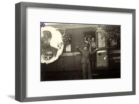 Train with Repatriated Soviet Citizens on the Drive Home--Framed Art Print