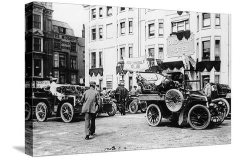 A 1903 Renault 10Hp Outside the Old Ship Hotel, Brighton, East Sussex, C1903--Stretched Canvas Print