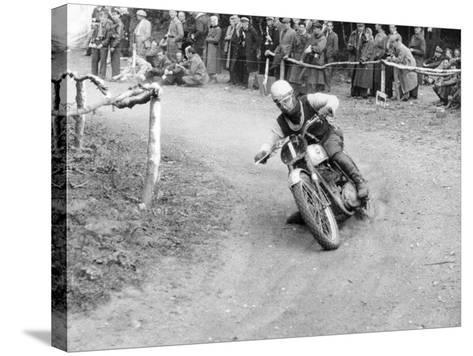 Gw Beamish on a Bsa 500Cc Motorbike, Brands Hatch, Kent, 1953--Stretched Canvas Print