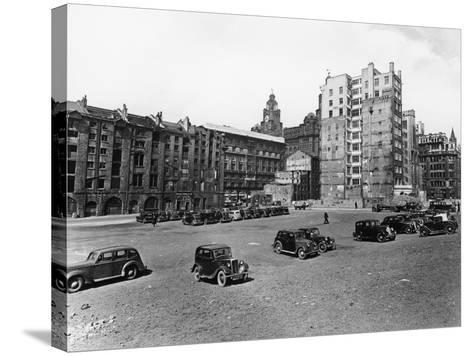 A Car Park, Brunswick Street, Liverpool, May 1946--Stretched Canvas Print