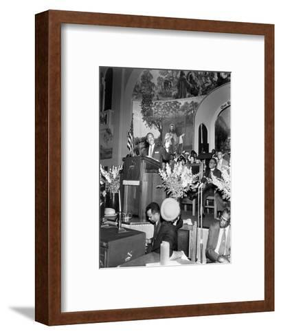 Martin Luther King Jnr, American Black Civil Rights Campaigner, C1968--Framed Art Print