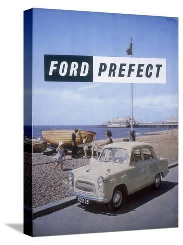 Poster Advertising a Ford Prefect Car, 1956--Stretched Canvas Print