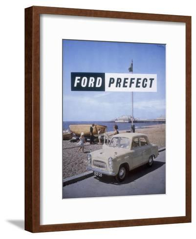 Poster Advertising a Ford Prefect Car, 1956--Framed Art Print