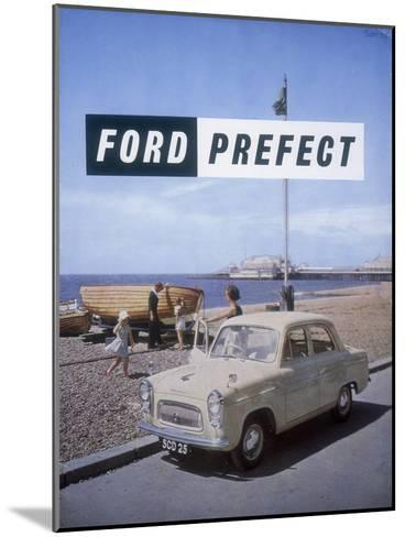 Poster Advertising a Ford Prefect Car, 1956--Mounted Giclee Print