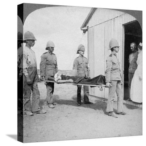 Wounded Fusilier after the Boers' Brave Stand Near Orange River, South Africa, Boer War, 1900-Underwood & Underwood-Stretched Canvas Print