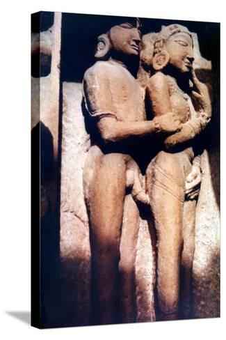Erotic Sculpture, Hindu Temple, Khajuraho, India, 950-1050--Stretched Canvas Print