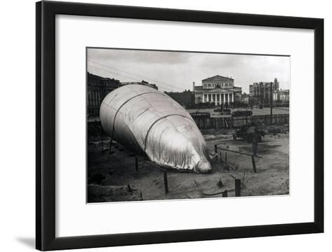 Barrage Balloon at the Bolshoi Theatre, Moscow, USSR, 1942--Framed Art Print