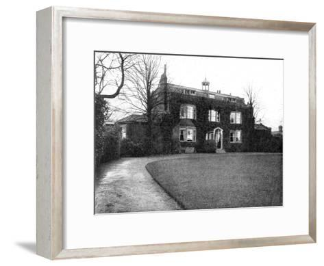 Gadshill, Near Rochester, Purchased by Dickens in 1856--Framed Art Print