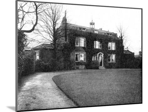 Gadshill, Near Rochester, Purchased by Dickens in 1856--Mounted Giclee Print
