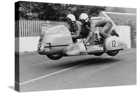 Sidecar TT Race, Isle of Man, 1970--Stretched Canvas Print
