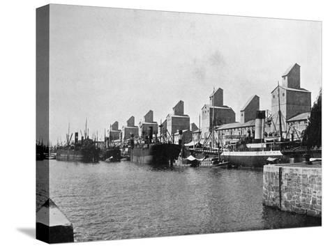 No 2 Dock and Grain Elevators, Buenos Aires, Argentina--Stretched Canvas Print