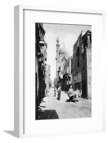 The Native Quarter, Cairo, Egypt, C1920s--Framed Art Print