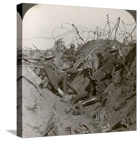 Observation Officer and Signallers Keep a Sharp Lookout, St Quentin, France, World War I, 1914-1918--Stretched Canvas Print