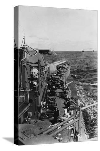 Sailors Sleeping on the Upper Deck of the British Battleship HMS Malaya, C1940-C1941--Stretched Canvas Print