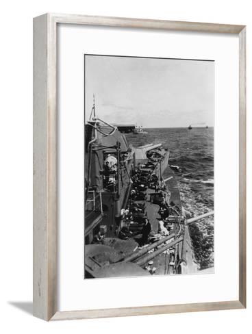 Sailors Sleeping on the Upper Deck of the British Battleship HMS Malaya, C1940-C1941--Framed Art Print