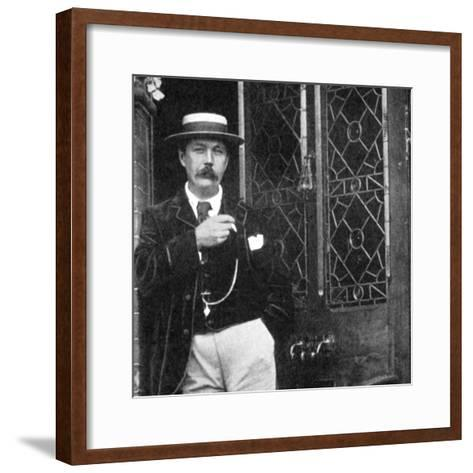 Arthur Conan Doyle, Scottish Writer, C1900--Framed Art Print