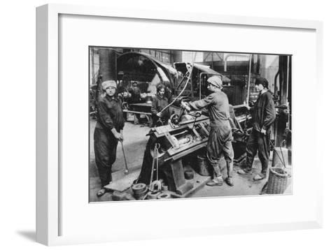 German State Munition Factory, World War I, 1917--Framed Art Print
