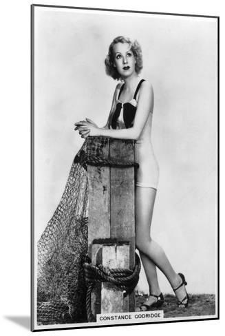 Constance Godridge, British Actress, 1938--Mounted Giclee Print