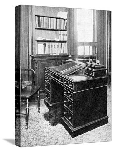 Chair and Desk of Charles Dickens, Used at Gadshill, 1923--Stretched Canvas Print