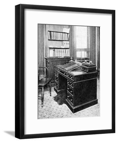 Chair and Desk of Charles Dickens, Used at Gadshill, 1923--Framed Art Print