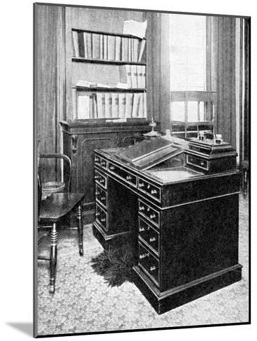 Chair and Desk of Charles Dickens, Used at Gadshill, 1923--Mounted Giclee Print