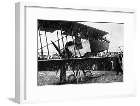 British Aeroplane with Quick-Fire Gun, First World War, 1914--Framed Art Print