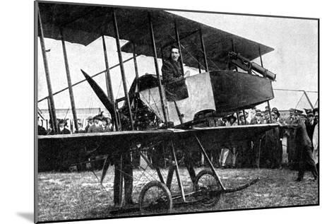 British Aeroplane with Quick-Fire Gun, First World War, 1914--Mounted Giclee Print