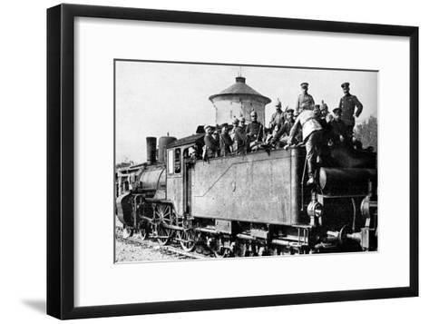 German Troops Travelling by Train to the Eastern Front, First World War, 1914--Framed Art Print