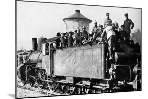 German Troops Travelling by Train to the Eastern Front, First World War, 1914--Mounted Giclee Print