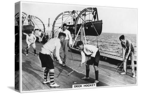 Deck Hockey on Board the Battleship HMS 'Nelson, 1937--Stretched Canvas Print