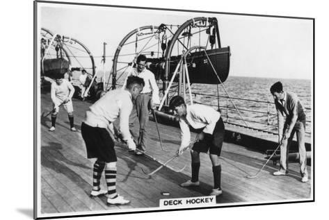 Deck Hockey on Board the Battleship HMS 'Nelson, 1937--Mounted Giclee Print