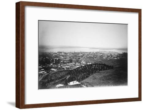 Auckland from Mt Eden, New Zealand, 1899--Framed Art Print