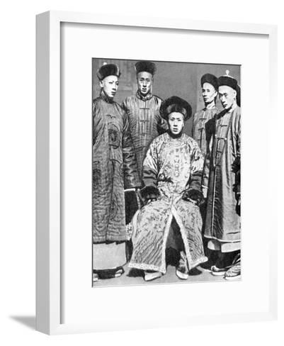 A Portrait of Mandarins, China, 1936--Framed Art Print