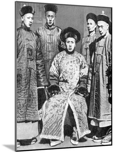 A Portrait of Mandarins, China, 1936--Mounted Giclee Print