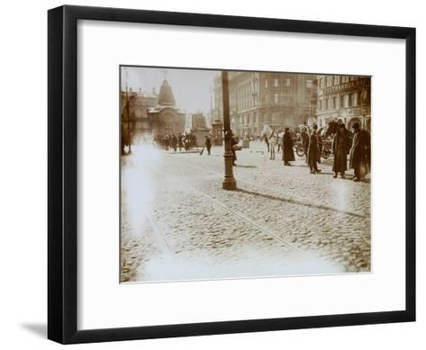 Okhotny Ryad (Hunting Ro), Moscow, Russia, 16 March 1911--Framed Art Print