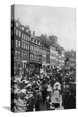 Fish Market, Copenhagen, C1922--Stretched Canvas Print