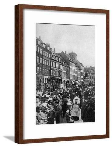 Fish Market, Copenhagen, C1922--Framed Art Print