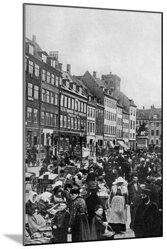 Fish Market, Copenhagen, C1922--Mounted Giclee Print