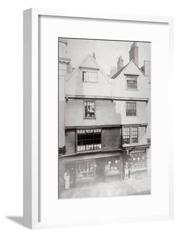 Aldersgate Street, City of London, C1875--Framed Art Print