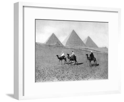 The Pyramids of Giza, Cairo, Egypt, C1920S--Framed Art Print