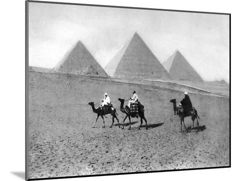 The Pyramids of Giza, Cairo, Egypt, C1920S--Mounted Giclee Print