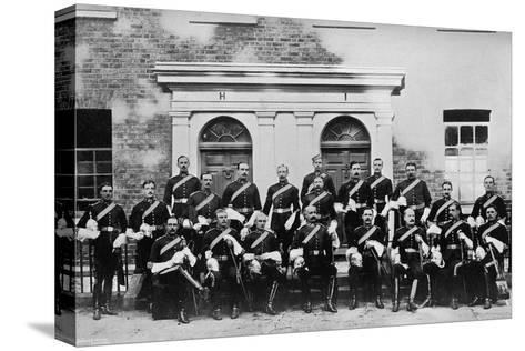 The Officers of the 1st Royal Dragoons, Island Bridge Barracks, Dublin, Ireland, 1896- J & Son Robinson-Stretched Canvas Print